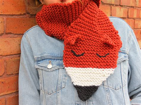 scarf knitting kits uk foxy scarf and foxy mittens with buttonbag foxy knitting