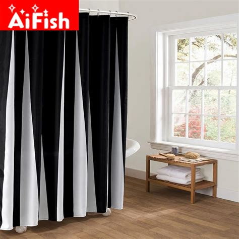 shower curtain room divider aliexpress com buy black and white classic stripe door