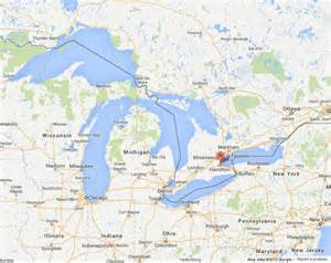 canada map great lakes great lakes are five lakes world easy guides