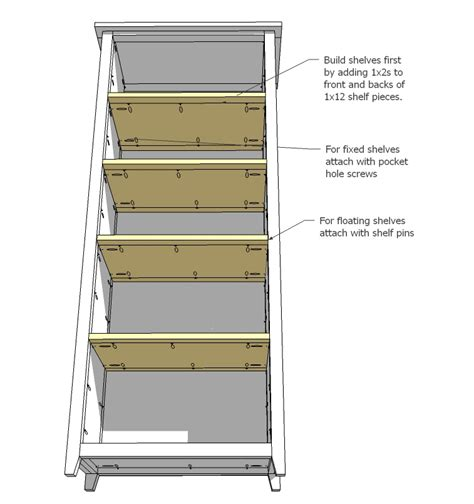 how to build a bookcase with adjustable shelves download adjustable shelf plans plans free