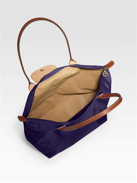 longch le pliage large tote bag in brown lyst