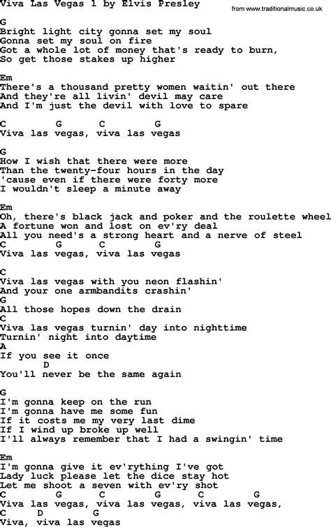 viva lyrics viva las vegas 1 by elvis lyrics and chords
