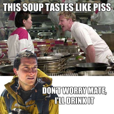 Bear Grylls Meme - funny gordon ramsay and bear grylls meme jokes memes
