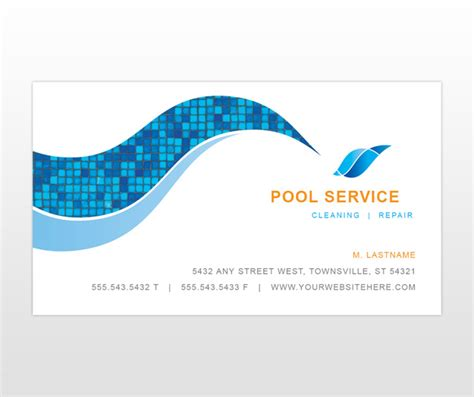 pool business card templates pool service business card ideas best business cards