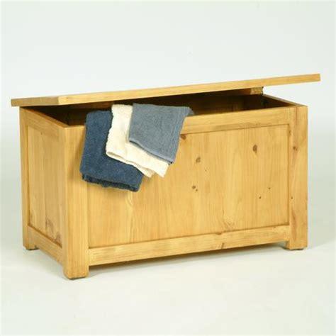 solid pine ottoman pine blanket box