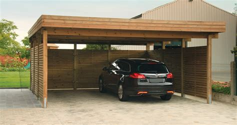 2 Car Garage Designs Carport En Bois Trait 233 Gardival S V L
