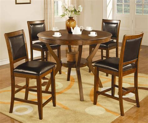 round dining sets coaster nelms round counter height dining set