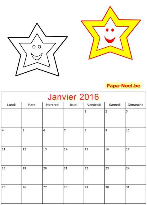 Calendrier Pour Enfant Calendriers De Janvier 2016 224 Imprimer Gratuitement