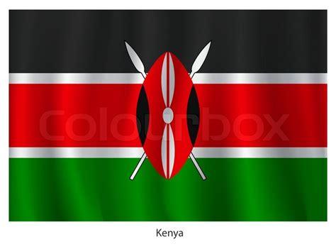 kenya flag colors kenya flag stock vector colourbox