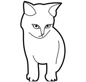 template of cat cat shape template animal templates free premium