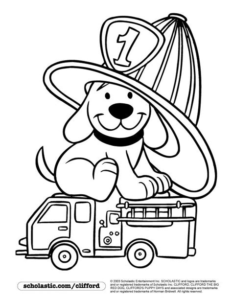 clifford coloring pages halloween firedog clifford coloring page children s stuff
