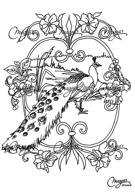 animal coloring pages peacock free coloring page coloring adult animals peacock