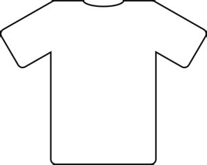 Football Shirt Outline by Shirt Outlines Clip At Clker Vector Clip Royalty Free Domain