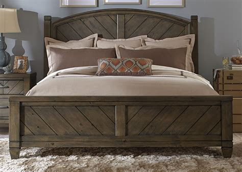 modern country king poster bed from liberty 833 br kps