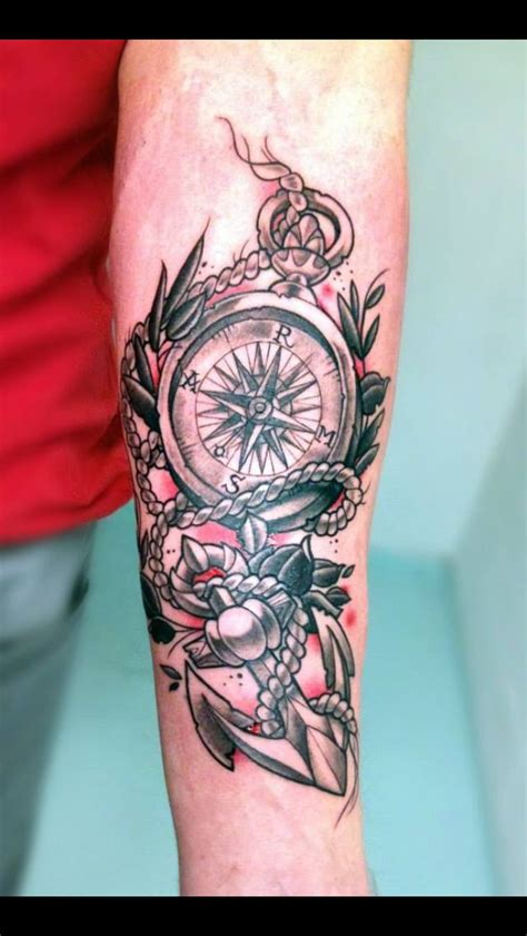 compass and anchor tattoo designs compass anchor ideas
