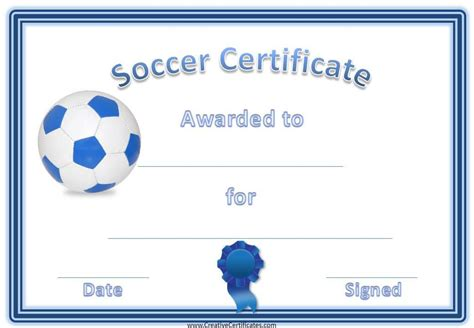 Soccer Award Certificate Template Customize Online Soccer Award Template