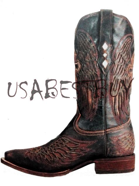 Handmade Western Boots - new handmade mens brown cow boy antique style western