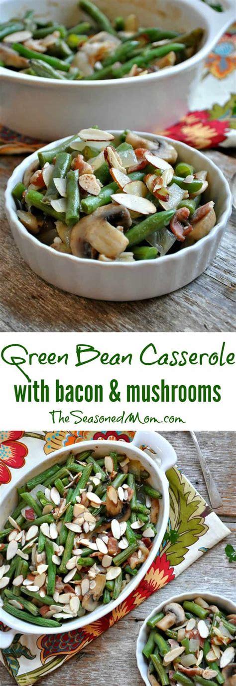 green bean casserole  bacon  mushrooms