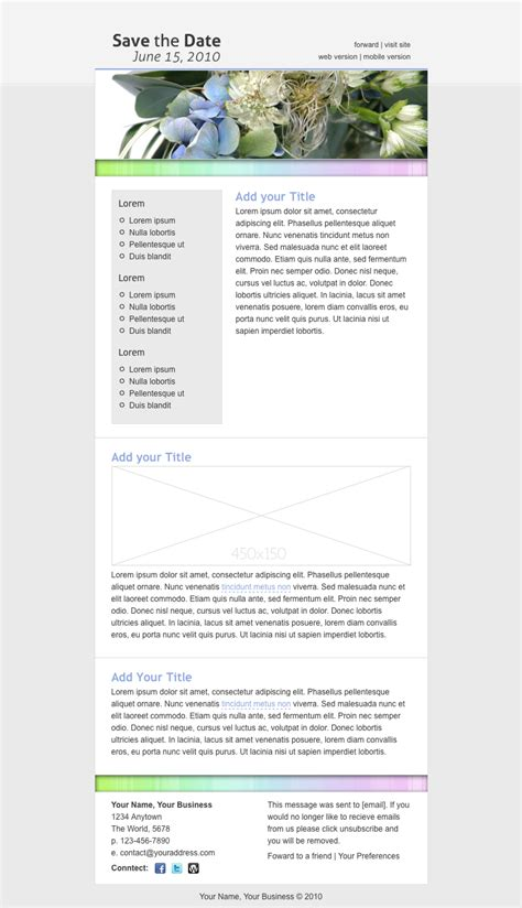 Save The Date Email Template By Creekjumper Themeforest Save The Date Email Template