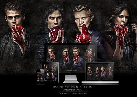 Damon Salvatore The Vire Diaries Iphone All Hp Diaries Wallpaper Pack 1 By Lilsaintja On Deviantart