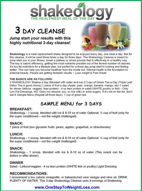 Shakeology Detox Review by Shakeology 3 Day Cleanse Review