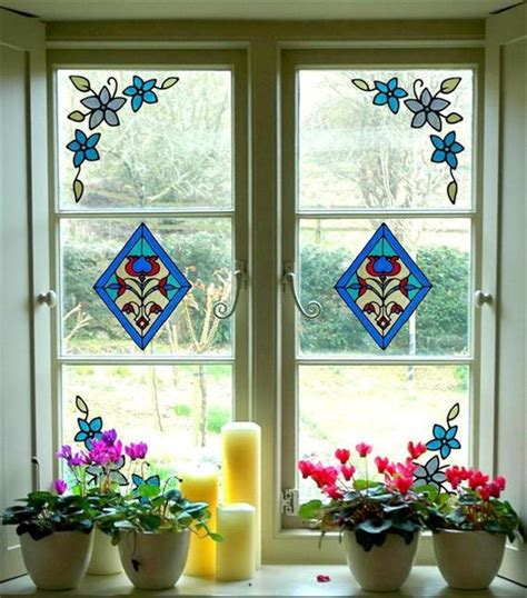 Stained Glass Window Stickers