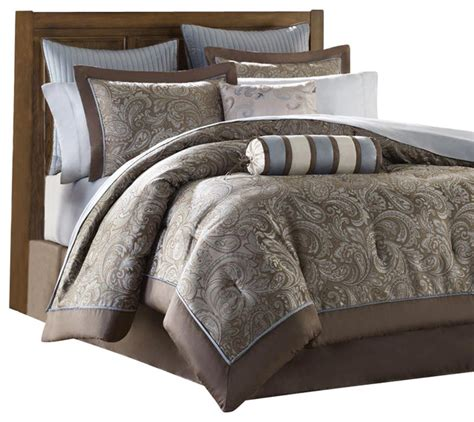 jla madison park aubrey 12 piece full comforter set king