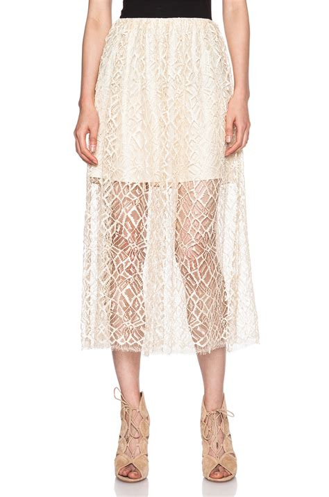 Layer Lace lyst adam lippes layer lace skirt in