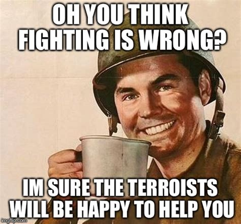 Oh Fuck Meme - condescending army guy imgflip