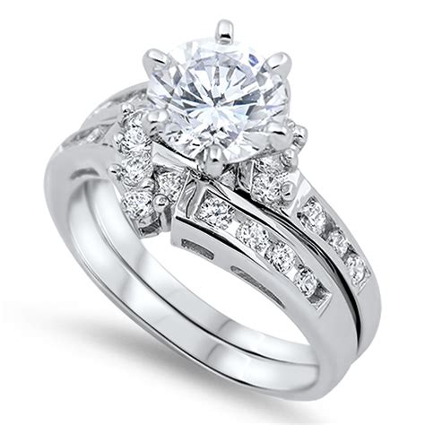 Wedding Rings Design Silver by Sterling Silver Designer Engagement Ring Wedding Band