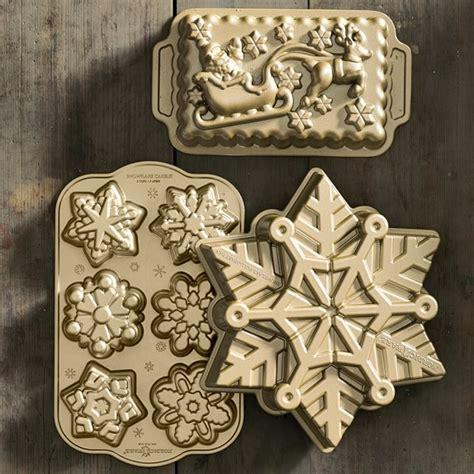 simple recipe for nordic ware christmas holiday tree bundt pan nordic ware pull apart snowflake cake pan williams sonoma