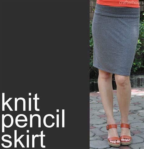 how to knit a skirt knit pencil skirt a tutorial crafterhours