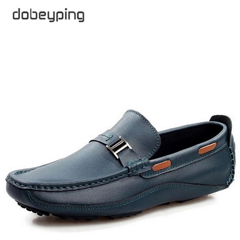 new brand loafers shoes top genuine leather driving