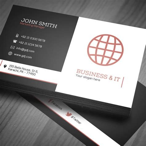 grafic artist business cards templates free free corporate business card template psd freebies