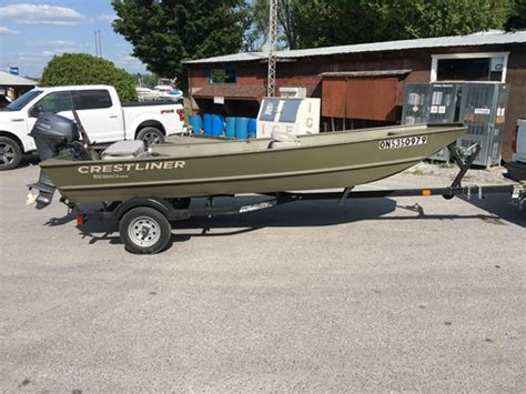 used crestliner boats for sale in ontario crestliner cr 1648 2016 used boat for sale in portland