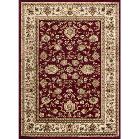 Tayse Rugs Sensation Red 7 Ft 10 In X 10 Ft 3 In 7 X 10 Area Rugs
