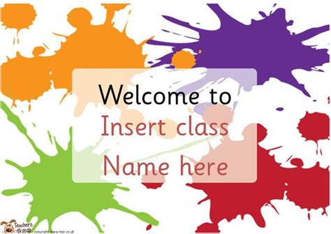 classroom door signs templates s pet editable classroom welcome posters free
