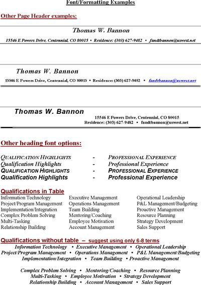 resume header template resume heading template