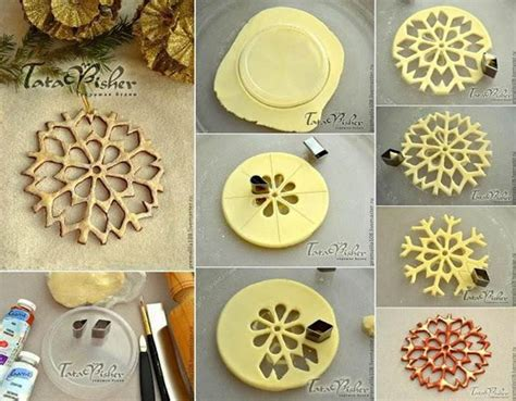 creative ideas creative ideas diy salt dough snowflake ornaments