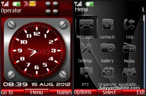 clock themes for mobile phones august 2012 nayyer mobile