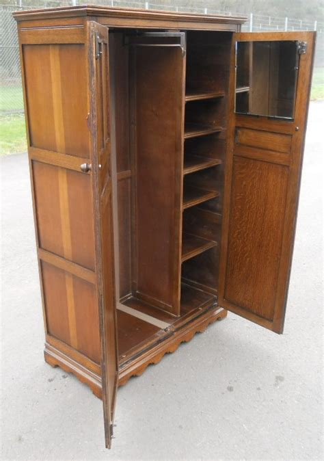 Small Wooden Wardrobe by Small Carved Oak Fitted Wardrobe By Wood Bros