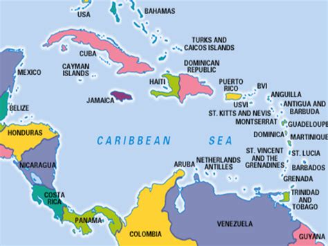 caribbean sea map world map caribbean sea factsofbelgium