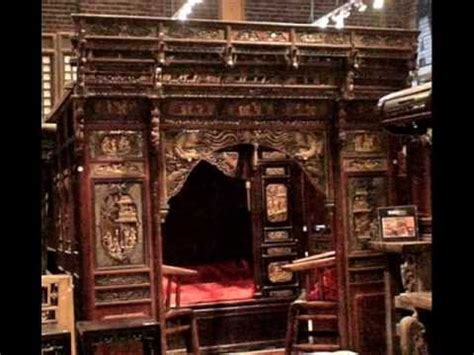 Pictures Of Canopy Beds antique chinese carved canopy bed with alcove rb1007x wmv