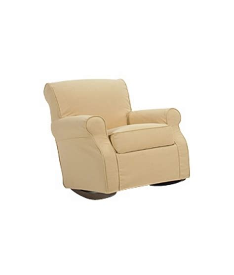 rocker recliner slipcover slipcovered rocking chair with rolled arms clubfurniture com
