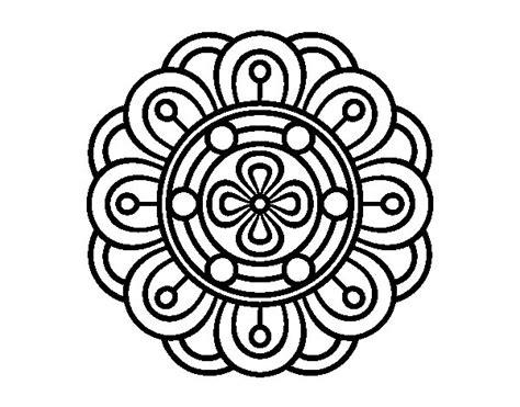 imagenes flor mandala dibujo de mandala flor creativa para colorear dibujos net
