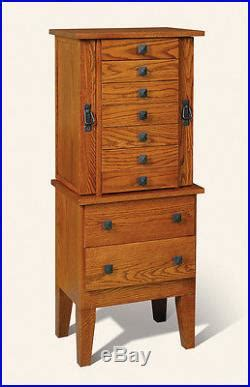 solid wood jewelry armoire lancaster county pa amish made large jewelry armoire chest solid wood usa