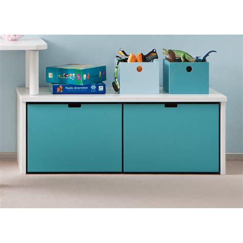 meuble bas chambre enfant meuble de rangement avec 2 grands caissons 224