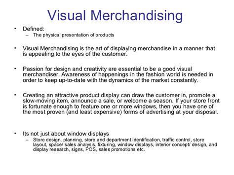 Merchandising Resume Examples by Visual Merchandising