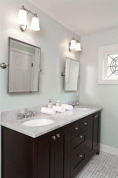 espresso double vanity transitional bathroom renewal