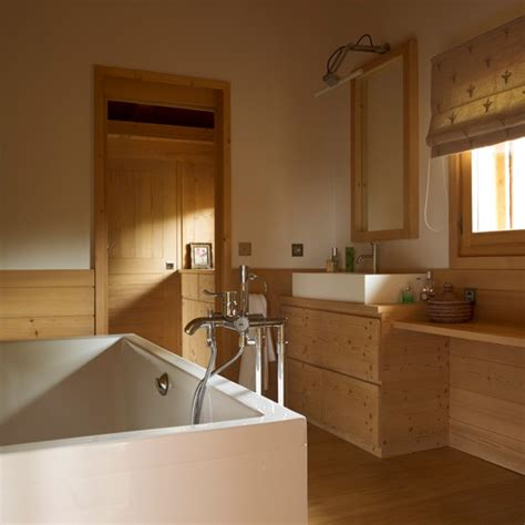 wood bathroom ideas alpine bathroom neutral bathroom decorating idea